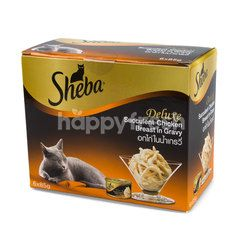 Sheba Deluxe Succulent Chicken Breast In Gravy Flavour For Adult