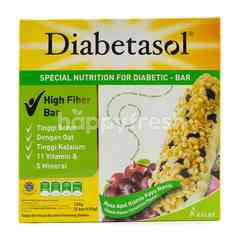 Diabetasol High Fiber Bar Apple Raisin Cinnamon Flavor