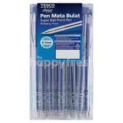 TESCO CHOICE 0.7mm Ball Point Blue Pen (50 Pieces)