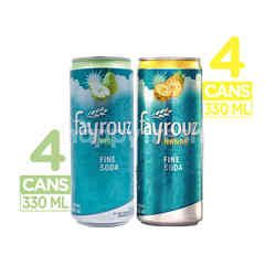 Fayrouz Pear Fine Soda (x4) + Pineapple Fine Soda (x4)