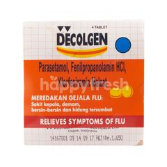 Decolgen  Relieves Symptomps of Flu