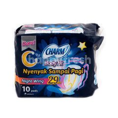 Charm Body Fit Night Wing 29cm Sanitary Pad