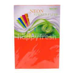 Renown A4 Neon Sticker Paper (10 Sheets)