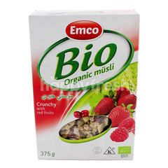 Emco Bio Organic Mãƒâ¼Sli Crunchy With Red Fruits Cereal