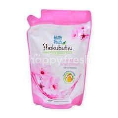 SHOKUBUTSU Clean Fresh Shower Foam Sakura Whitening