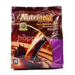 Nutrigold 3 In 1 Hot Chocolate Drink (15 Sticks)