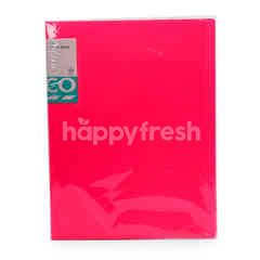 Tesco A4 Clear Book (Pink)