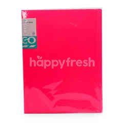Tesco A4 Clear Book (Pink)