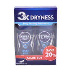 Nivea Men Fresh Active Roll On Deodorant (2 Bottles)
