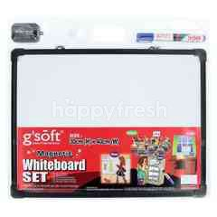 Gsoft Magnetic White Board Set