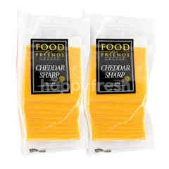 Food For Friends Sliced Cheddar Sharp Cheese Twinpack
