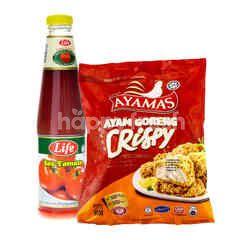 QSR Ayamas Crispy Fried Chicken 850g & LIFE Tomato Sauce 685g