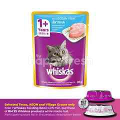 Whiskas Pouch Cat Wet Food Adult Fresh Fish Ocean Fish 85G Cat Food
