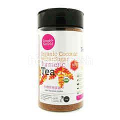 SIMPLY NATURAL Organic Coconut Nectar Sugar Turmeric Tea (50% More Turmeric)