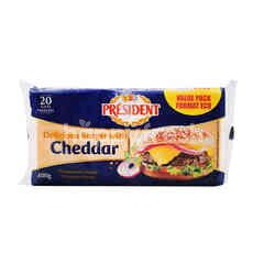 President Delicious Burger With Cheddar Cheese (20 Pieces)