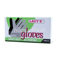 Lacy's Heavy Duty All Purpose Disposable Vinyl Gloves Medium