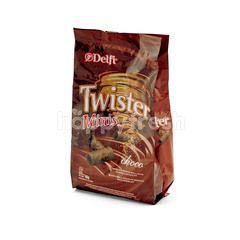Delfi Twister Wafer Mini Cokelat
