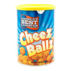 America's Best Canister Snacks Cheez Ballz