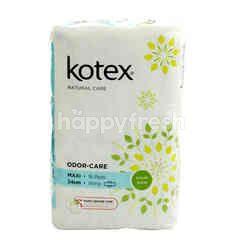 Kotex Odour-Care - Maxi - 24cm - Wing - With Daun Sirih