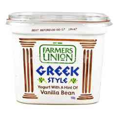 Farmers Union Greek Style Yogurt Vanilla Bean