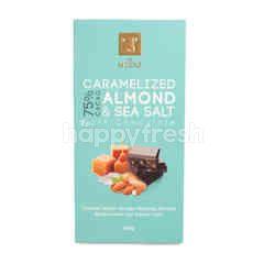 Vel Moriz 75% Cacao Caramelized Almond and Sea Salt Dark Chocolate