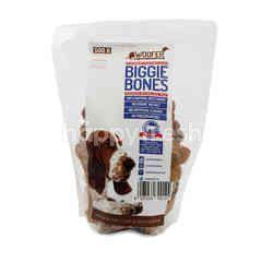 Woofer Biggie Bones Biskuit Rasa Daging Asli