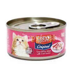 CINDY RECIPE Tuna White Meat With Crab Surimi Cat Food