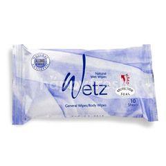 Wetz General Blue Natural Wet Wipes (10 sheets)