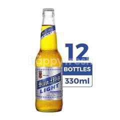 San Miguel Light 330ml (Botol) 12-Pack