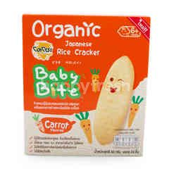 Dozo Baby Bite Organic Japanese Rice Cracker Carrot Flavored