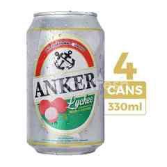 Anker Bir Rasa Leci 330ml (Kaleng) 4-Pack
