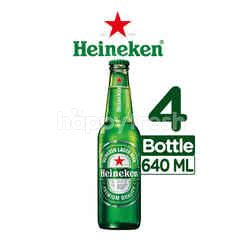 Heineken International Bir Lager Isi 4 Botol 640ml