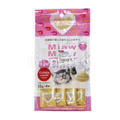 Aixia Miaw Miaw Creamy Tuna With Shrimp Flavour Cat Treat (4 Packs)