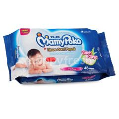 MamyPoko Baby Wipes Non Alcohol, Perfume, Soft with Extract Alove Vera (48 wipes)