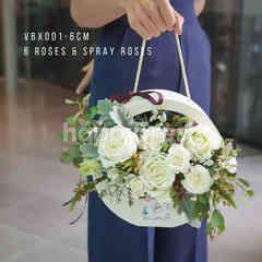 Heartis Handy flower box - white roses & spray roses