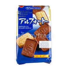 Bourbon Alfort Chocolate Coated Biscuits