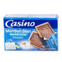 คาสิโน เปอติ เบอร์ พอคเค็ท มิลค์ ช็อกโกแลต (บิสกิตรสช็อกโกแลตนม)