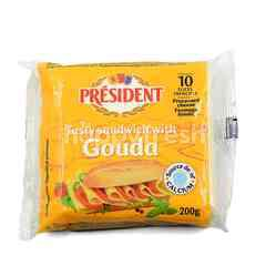 President Processed Cheese Slices - Gouda