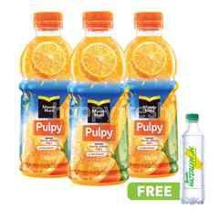 Minute Maid Pulpy Rasa Jeruk Triplepack dan Gratis Sprite Waterlymon