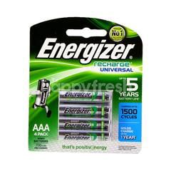 Energizer Recharge Universal AAA 4 Pack 1.2v 700mAh