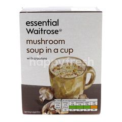 Essential Waitrose Mushroom Soup In A Cup