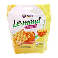 Julie's Le-Mond Puff Sandwich Cheddar Cheese Cream Cookies (16 Convi-Packs)