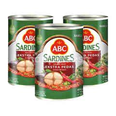 ABC Sardines with Extra Hot Sauce Triplepack