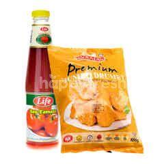 QSR LIFE Tomato Sauce 685g & Ayamas Crispy Fried Chicken 850g
