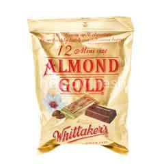 Whittaker's 12 Mini Size Almond Gold Chocolate