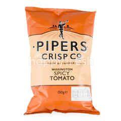 Pipers Crisp Co Wissington Spicy Tomato Potato Chips