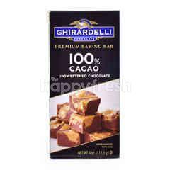 Ghirardelli 100% Cacao Unsweetened Chocolate Premium Baking Bar