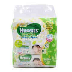 HUGGIES Gold Gentle Care Baby Wipes Pack (3 Packs)