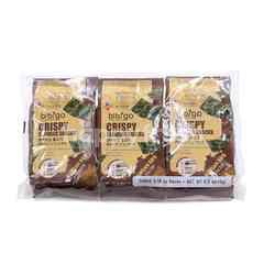 CJ Bibigo Crispy Seaweed Korean BBQ Snacks (3 Pieces)