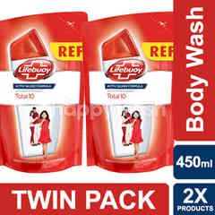 Lifebuoy Total10 Body Wash 450ml Twin-pack